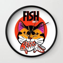 Fish addict Wall Clock