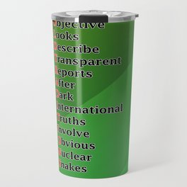 Mnemonic Travel Mug