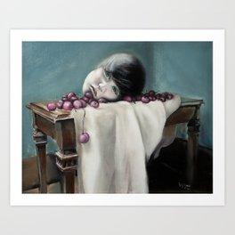 Still Life with Cherries Art Print
