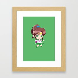 sailor jupiter chibi Framed Art Print