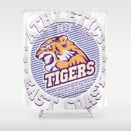 Angry Tiger Sport Shower Curtain