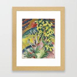 Ernst Ludwig Kirchner , 1880 - 1938, Curving Bay ca. 1914 Framed Art Print