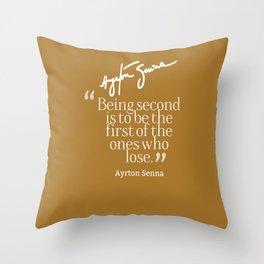 Ayrton Senna Quote Throw Pillow