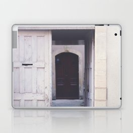 Cottage Doors in Bayeux Laptop & iPad Skin