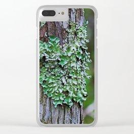 Likin' the Lichen Clear iPhone Case