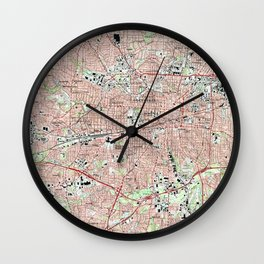 Greensboro North Carolina Map (1997) Wall Clock