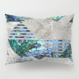 Abstract Geometric Abalone and Mother of pearl Pillow Sham