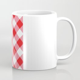 Gingham - Red Coffee Mug