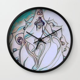 buda loto Wall Clock