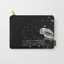 Snowfall at Night (Owl) Carry-All Pouch