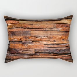 Beautifully Aged Wood Texture Rectangular Pillow