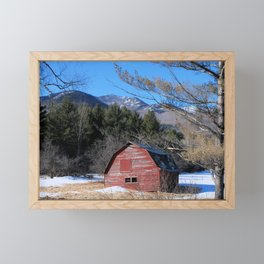 Deserted Barn in the Adirondacks Framed Mini Art Print