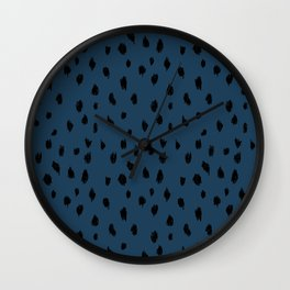 Seeing Spots in Midnight Martini Wall Clock