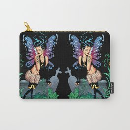 Gothic Fairy Crying Graveside Remembering Someone Who Died Carry-All Pouch
