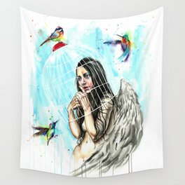 Don´t wear the cage Wall Tapestry