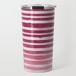 Ruby Foil Stripes Travel Mug