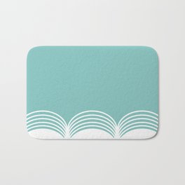 Abstract pattern - blue and white. Bath Mat