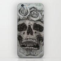 calavera iPhone & iPod Skins featuring Calavera by Scheherazade Sharma