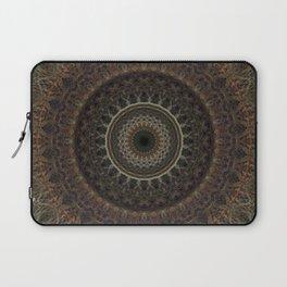 Mandala in brown tones Laptop Sleeve