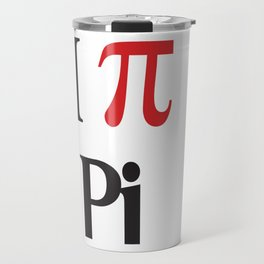I Heart Pi Travel Mug
