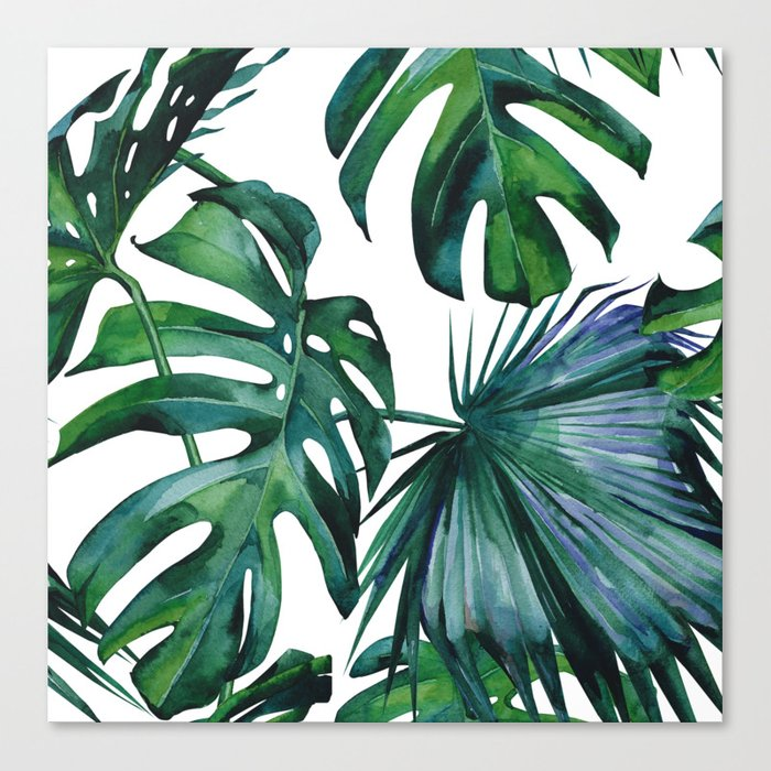 Tropical Palm Leaves Classic Canvas Print