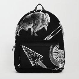 Crossed Arrows Bison Fox And Bear Wildlife Backpack
