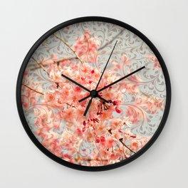 Awesome Blossom (Cherry Blossom / Sakura pattern) Wall Clock