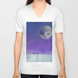 Dreams Are As Near As The Moon Unisex V-Neck
