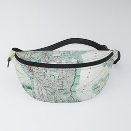 Vintage Topographical Map Seattle Washington Fanny Pack