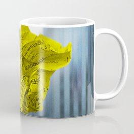 Falling Discarded Breakfast Menu In New York City Coffee Mug
