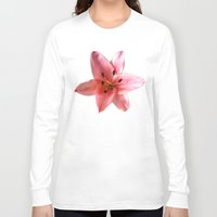 lily Long Sleeve T-shirts featuring lily by flora cyclam