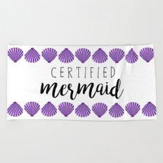 Certified Mermaid Beach Towel