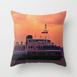 The Royal Iris Throw Pillow