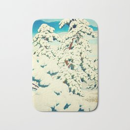 A Morning in the Snow Bath Mat