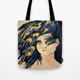 Peacock Girl Variation 1 Tote Bag