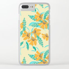 Vintage Garden Clear iPhone Case