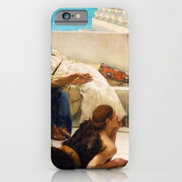 Lawrence Alma-Tadema - A Reading From Homer1 - Digital Remastered Edition iPhone Case