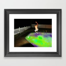 Jump for Joy. Land for Safety. Framed Art Print