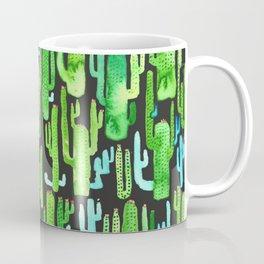 cactus on black pattern Coffee Mug