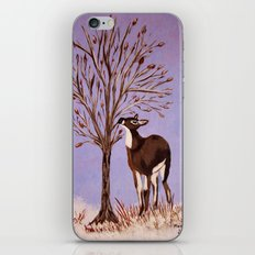 Deer by the tree iPhone & iPod Skin