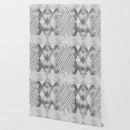 ETHNO Elegance in silver Wallpaper