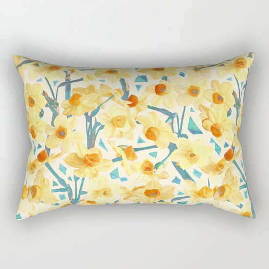 Yellow Jonquils Rectangular Pillow