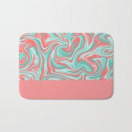 Liquid Swirl - Peach and Green Bath Mat