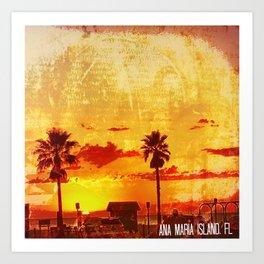 Ana Maria Island, FL Art Print