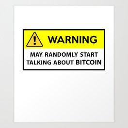 Bitcoin design - btc Art Print