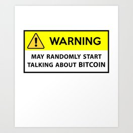 Bitcoin design - btc Art Print