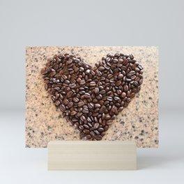 Coffee Heart Mini Art Print