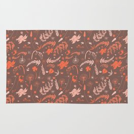 Brown + Orange Spring Folliage SS18 Rug