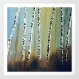 Summer Birch Trees Art Print