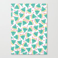 Watermelon love pattern Canvas Print